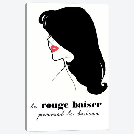 Le Rouge Baiser Canvas Print #VAC1765} by Vintage Apple Collection Art Print