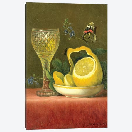 Lemon Canvas Print #VAC1767} by Vintage Apple Collection Canvas Print