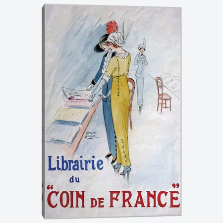 Librairie du Coin de France Canvas Print #VAC1773} by Vintage Apple Collection Art Print