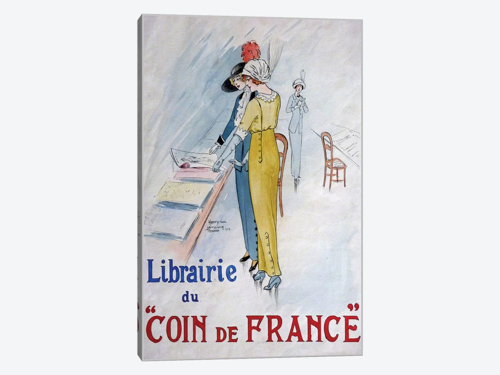 Librairie du Coin de France by Vintage Apple Collection 1-piece Canvas Print