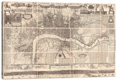 London Actually Surveyed Map Canvas Art Print