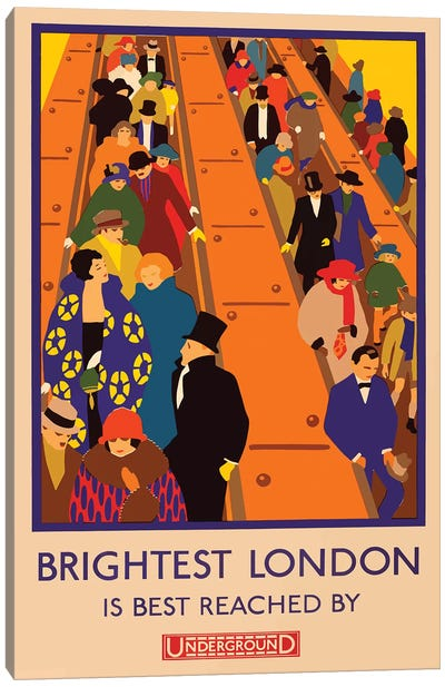London Underground, Brightest London Canvas Art Print