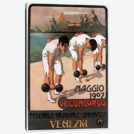 Maggio Weightlifters, Venezia, 1907 Canvas Print #VAC1810} by Vintage Apple Collection Canvas Artwork