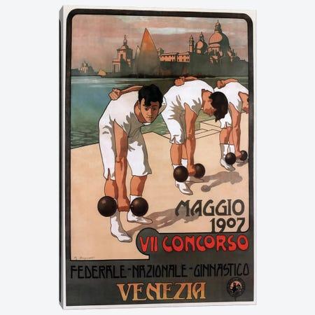Maggio Weightlifters, Venezia, 1907 Canvas Print #VAC1810} by Vintage Apple Collection Canvas Artwork