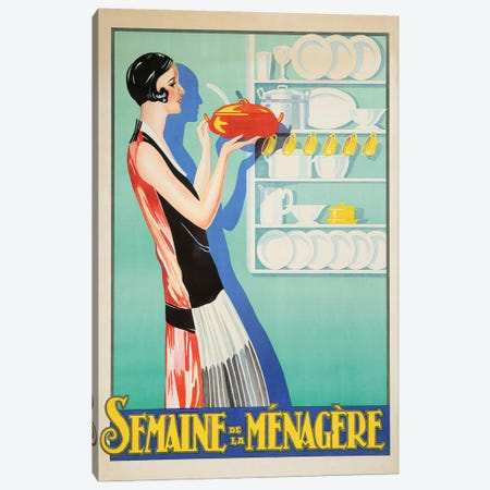 Managerie Housewife Canvas Print #VAC1812} by Vintage Apple Collection Canvas Art