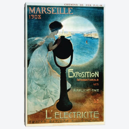 Marseille 1908 Canvas Print #VAC1815} by Vintage Apple Collection Canvas Art Print