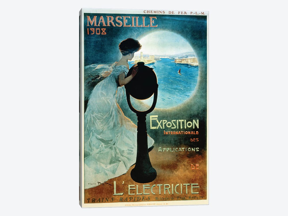 Marseille 1908 by Vintage Apple Collection 1-piece Canvas Print
