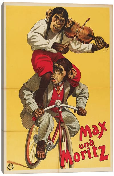 Max Und Moritz The Chimps Canvas Art Print