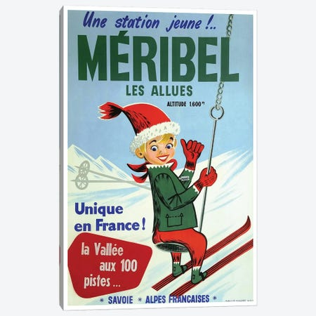 Méribel les Allues Canvas Print #VAC1834} by Vintage Apple Collection Canvas Print
