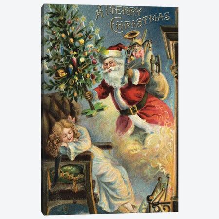 Merry Christmas Santa Canvas Print #VAC1835} by Vintage Apple Collection Canvas Art Print