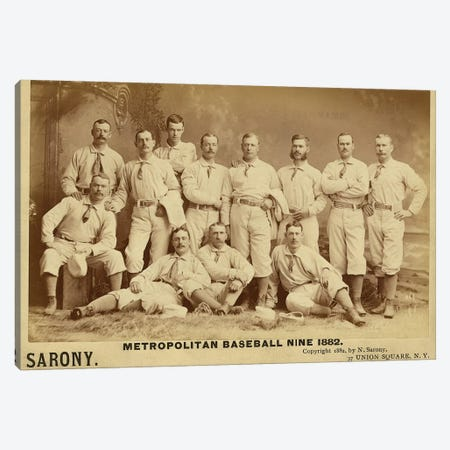 Metropolitan Baseball Nine 1882 Canvas Print #VAC1837} by Vintage Apple Collection Art Print