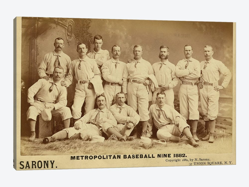Metropolitan Baseball Nine 1882 by Vintage Apple Collection 1-piece Art Print