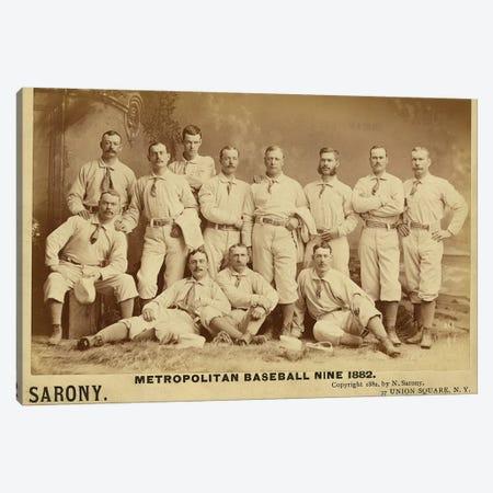 Metropolitan Baseball Nine 1882 Canvas Print #VAC1837} by Vintage Apple Collection Art Print