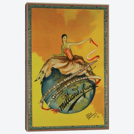 Milliard de France, 1923 3-Piece Canvas #VAC1841} by Vintage Apple Collection Canvas Art Print