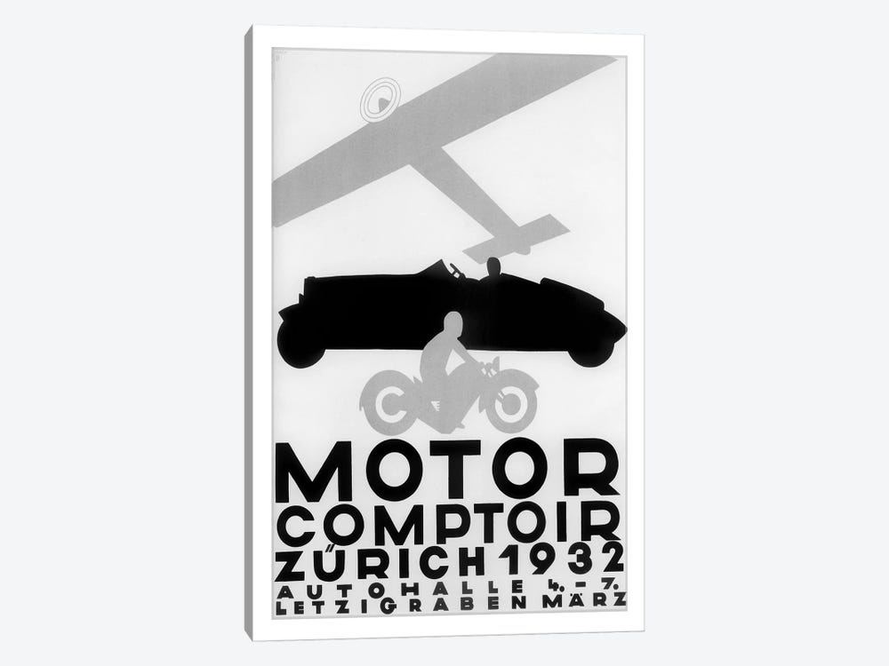 Motor Comptoir, Zürich, 1932 by Vintage Apple Collection 1-piece Canvas Artwork