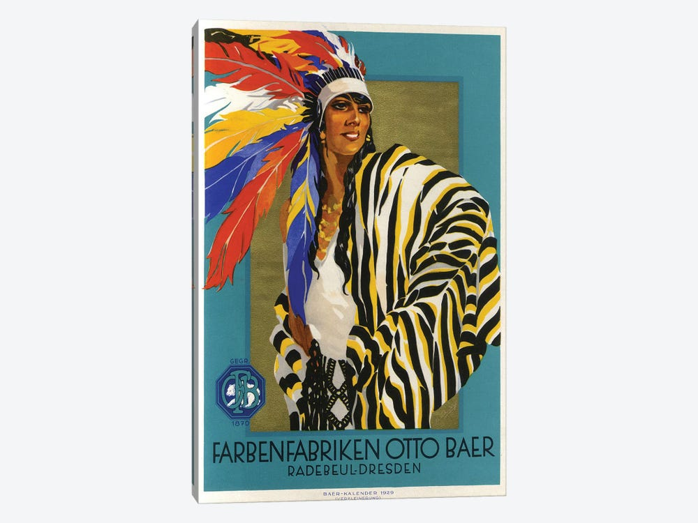 Native American Clothes, 1929 by Vintage Apple Collection 1-piece Canvas Artwork