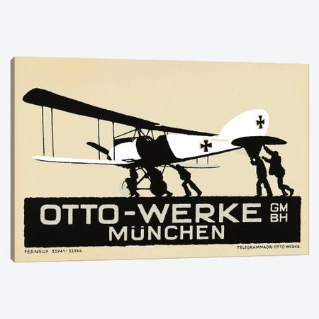 Otto-Werke Munich, WWI Era Canvas Print #VAC1872} by Vintage Apple Collection Canvas Artwork