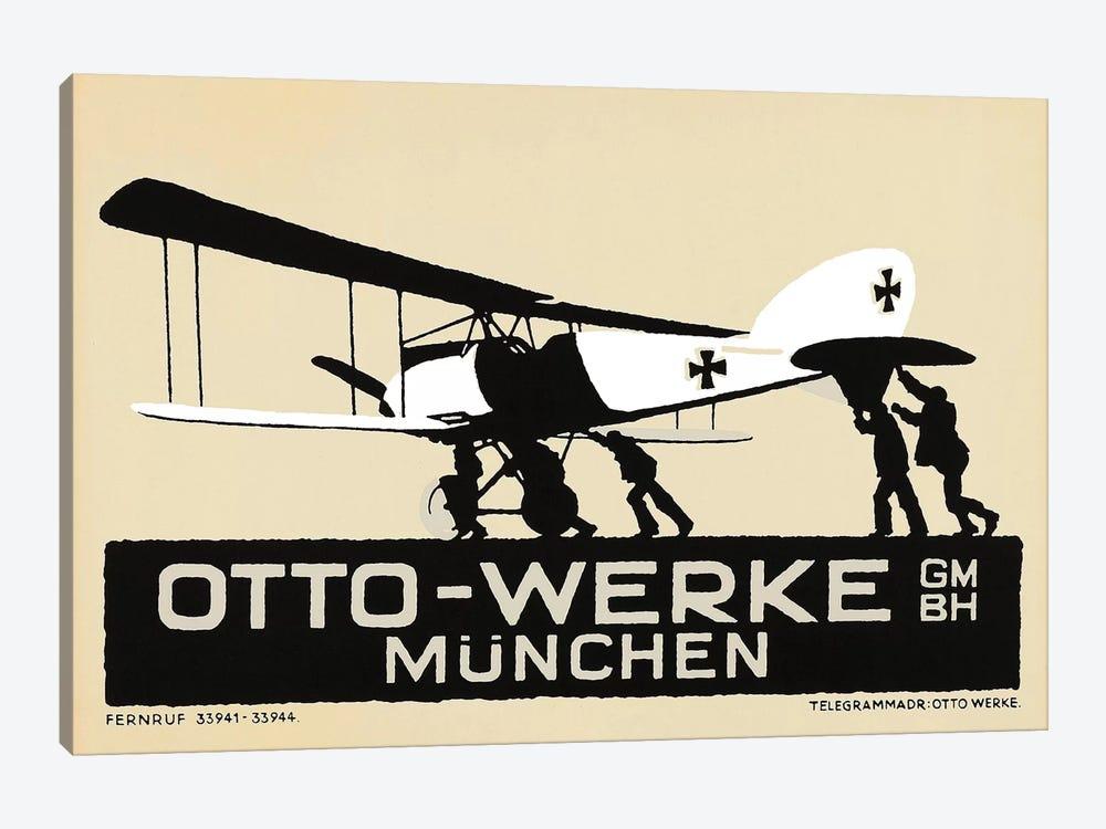 Otto-Werke Munich, WWI Era by Vintage Apple Collection 1-piece Canvas Wall Art