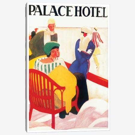 Palace Hotel Canvas Print #VAC1876} by Vintage Apple Collection Canvas Art Print