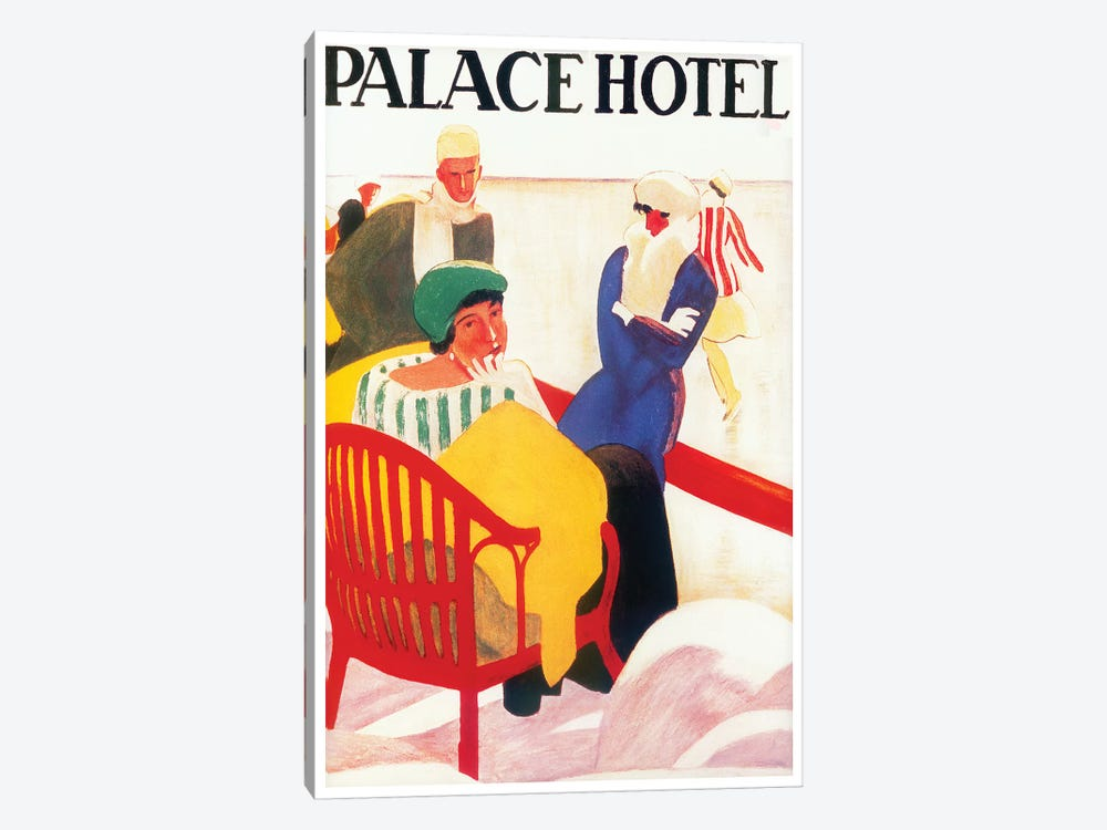 Palace Hotel by Vintage Apple Collection 1-piece Canvas Art