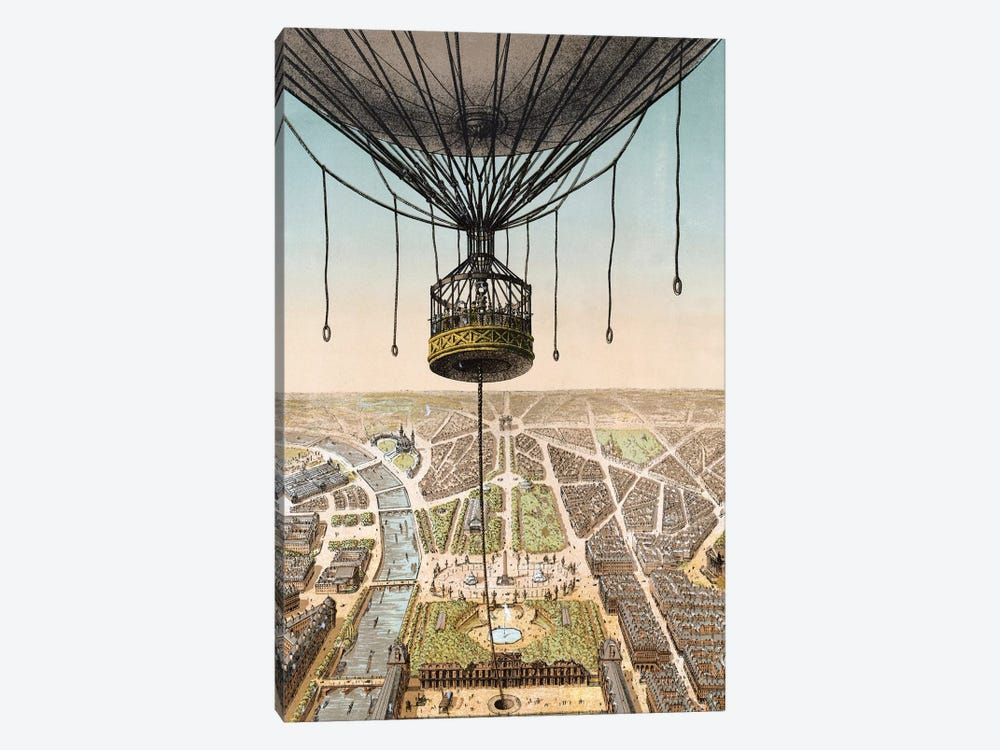Panorama de Paris by Vintage Apple Collection 1-piece Canvas Wall Art