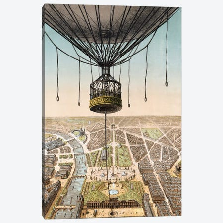 Panorama de Paris Canvas Print #VAC1890} by Vintage Apple Collection Canvas Artwork