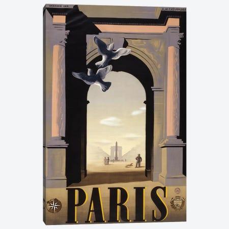 Paris Arc de Triomphe Canvas Print #VAC1892} by Vintage Apple Collection Canvas Artwork