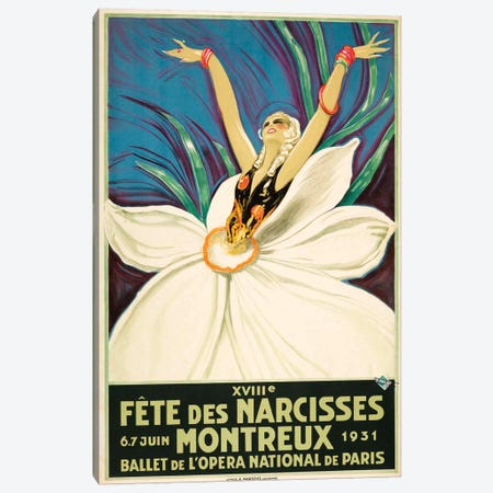 Paris Ballet, 1931 Canvas Print #VAC1893} by Vintage Apple Collection Canvas Wall Art