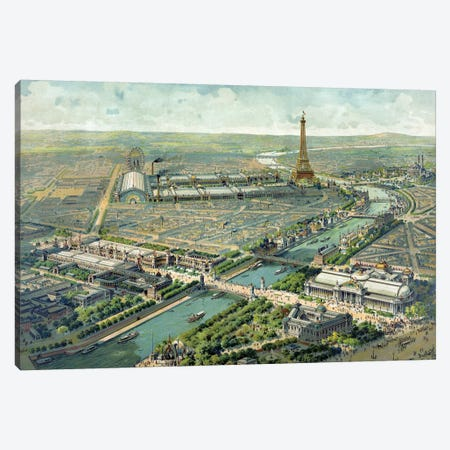 Paris Expo, 1889 Canvas Print #VAC1894} by Vintage Apple Collection Canvas Print