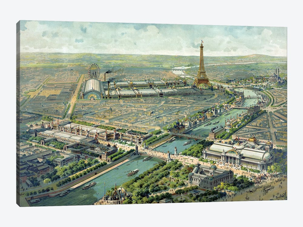 Paris Expo, 1889 by Vintage Apple Collection 1-piece Canvas Wall Art
