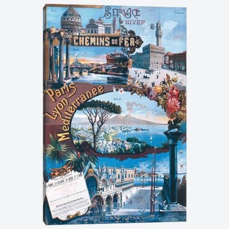 Paris Lyon Méditerranée Canvas Print #VAC1895} by Vintage Apple Collection Art Print