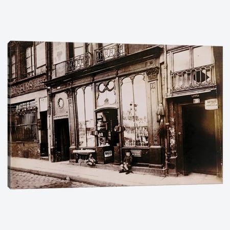 Paris Storefronts Canvas Print #VAC1898} by Vintage Apple Collection Canvas Artwork