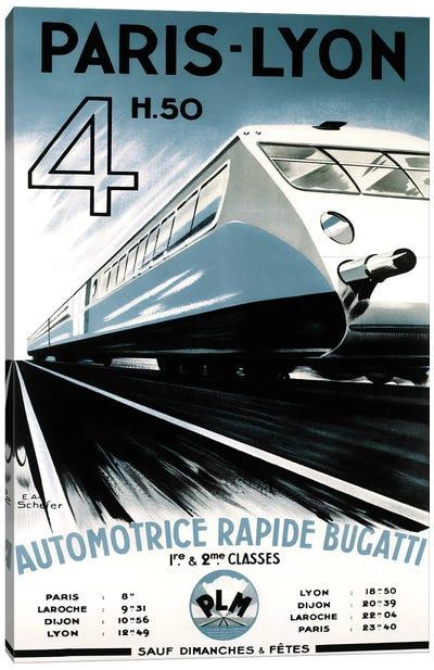 Paris-Lyon Train Canvas Art Print