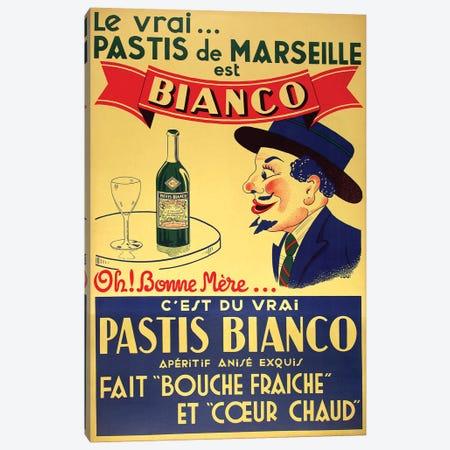 Pastis de Marseille Bianco Canvas Print #VAC1901} by Vintage Apple Collection Canvas Artwork