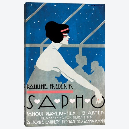Pauline Frederik In Sapho Canvas Print #VAC1903} by Vintage Apple Collection Canvas Art