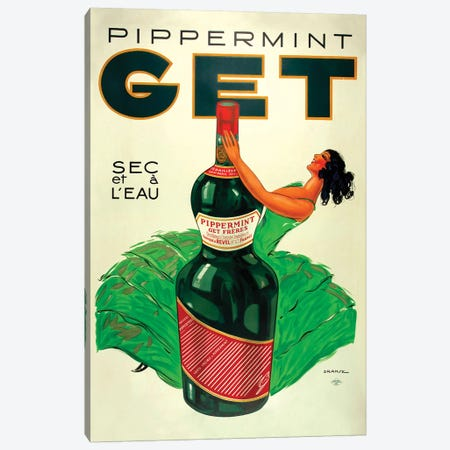 Pipperment Canvas Print #VAC1914} by Vintage Apple Collection Canvas Art