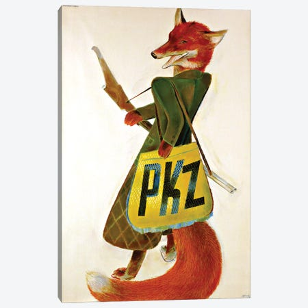 PKZ Burger-Kehl & Co. Fox Canvas Print #VAC1917} by Vintage Apple Collection Canvas Art