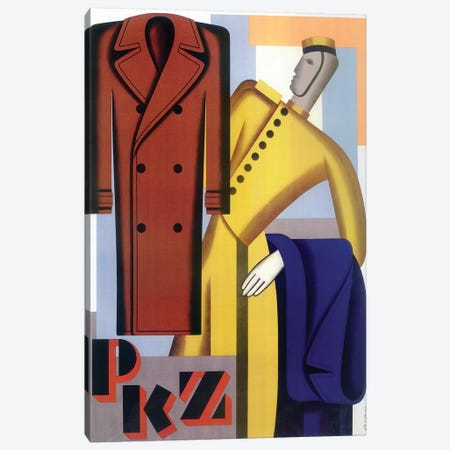PKZ Men's Fashions Canvas Print #VAC1918} by Vintage Apple Collection Canvas Art Print