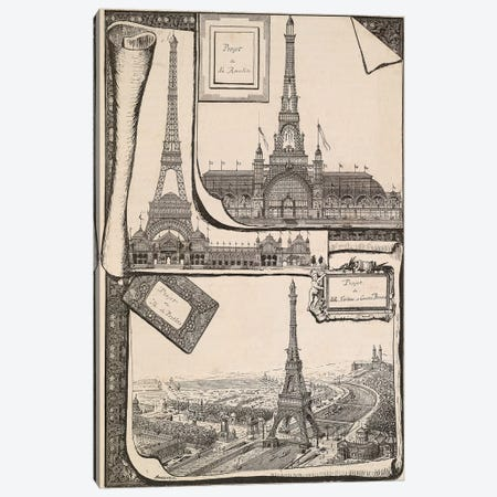 Plans Paris Exposition Canvas Print #VAC1919} by Vintage Apple Collection Canvas Art Print