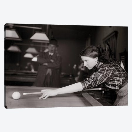 Playing Pool Canvas Print #VAC1920} by Vintage Apple Collection Canvas Art