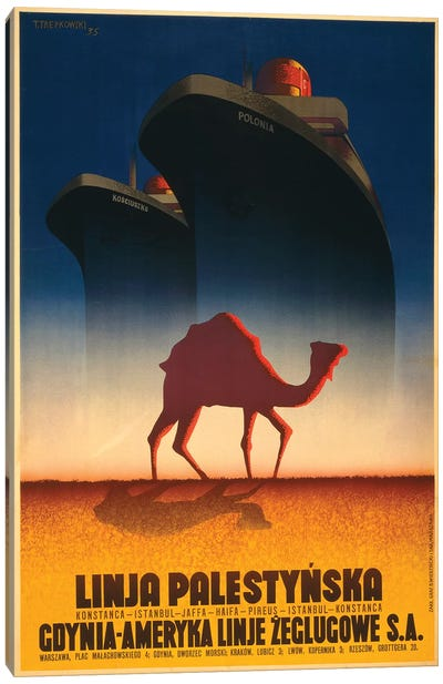 Polonia Liner To Palestine Canvas Art Print