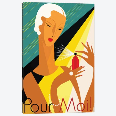 Pour Moi Canvas Print #VAC1926} by Vintage Apple Collection Canvas Print