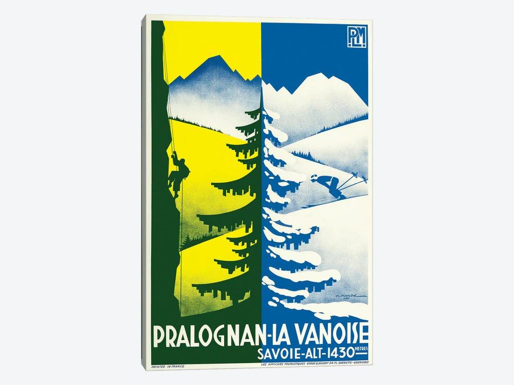 Pralognan-la-Vanoise Skiing by Vintage Apple Collection 1-piece Canvas Art Print