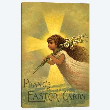 Prang's Easter Cards Canvas Print #VAC1930} by Vintage Apple Collection Art Print