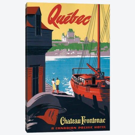 Quebec Château Frontenac Canvas Print #VAC1934} by Vintage Apple Collection Canvas Artwork