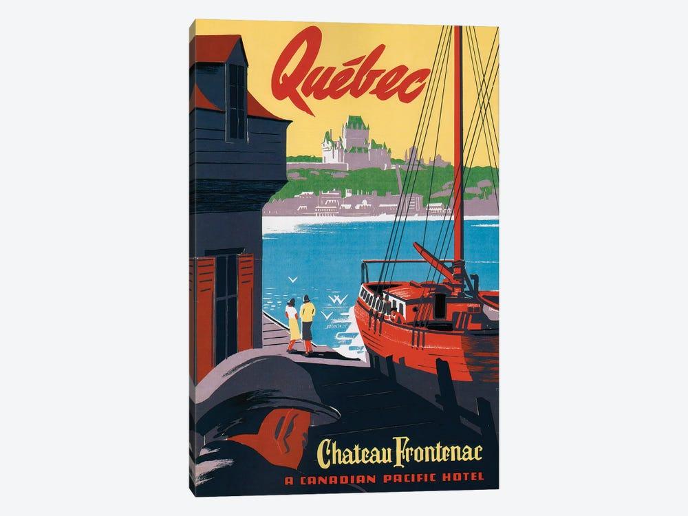 Quebec Château Frontenac by Vintage Apple Collection 1-piece Canvas Art Print