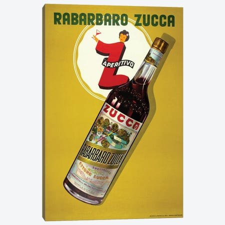 Rabarbaro Zucca Aperitivo Canvas Print #VAC1937} by Vintage Apple Collection Canvas Artwork