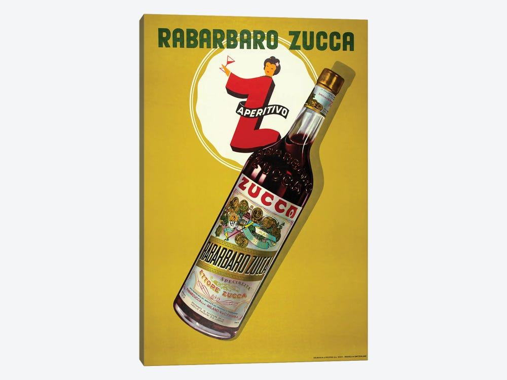 Rabarbaro Zucca Aperitivo by Vintage Apple Collection 1-piece Canvas Artwork