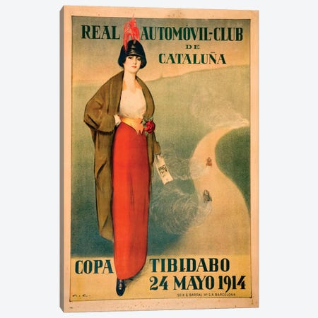 Real Automóvil Club de Cataluña, 1914 Canvas Print #VAC1943} by Vintage Apple Collection Canvas Artwork