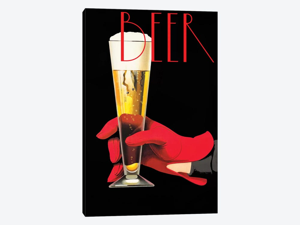 Red Glove Beer by Vintage Apple Collection 1-piece Art Print